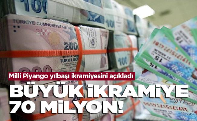 Milli Piyango'nun yılbaşı ödülü 70 milyon!