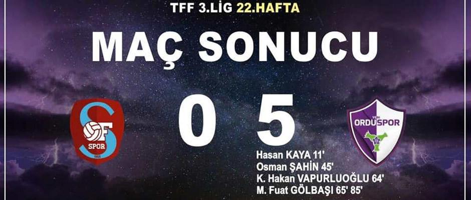 Yeni Orduspor'dan Ofspor'a farklı tarife: 5-0