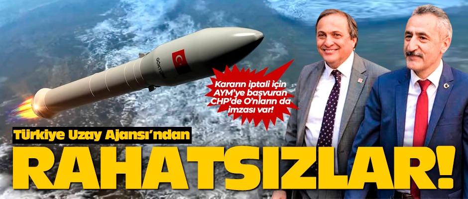Seyit Torun ve Mustafa Adıgüzel, Türkiye Uzay Ajansından rahatsız