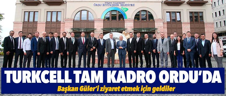 Turkcell, tam kadro Ordu'da