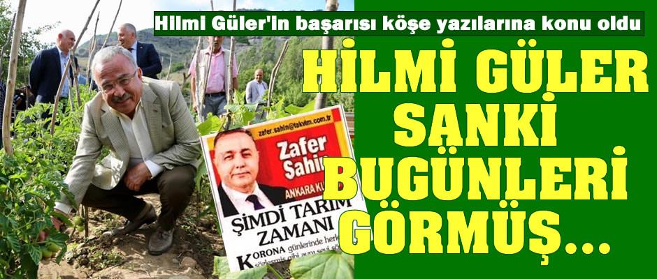 """Ulusal basın köşe yazarlarından Hilmi Güler'e övgü: """"Sanki bugünleri görmüş gibi..."""""""