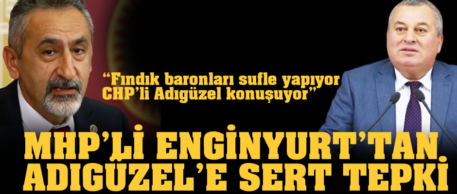 Cemal Enginyurt, CHP'li Adıgüzel'i yerden yere vurdu