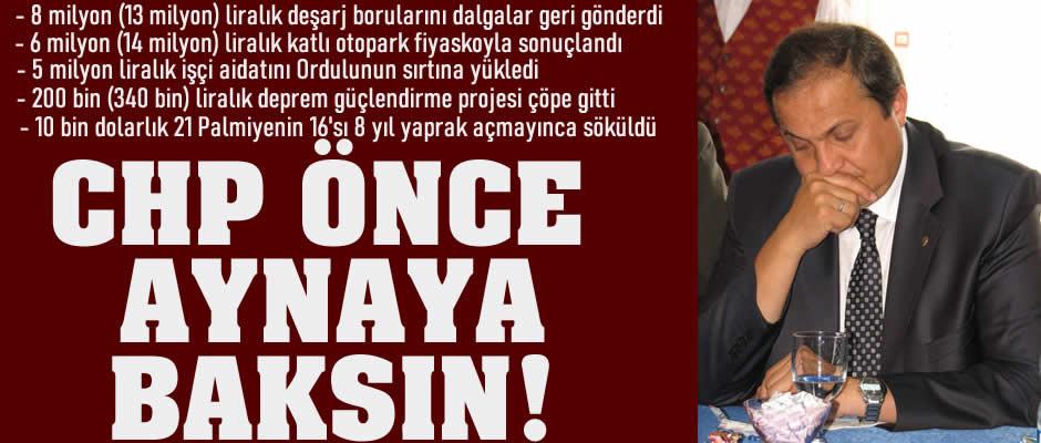 CHP ÖNCE KENDİNE BAKSIN