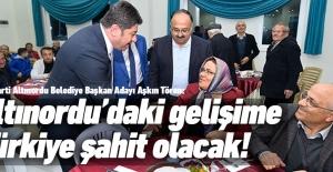AK Parti Altınordu adayı Aşkın Tören iddialı geliyor