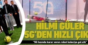 Hilmi Güler, 5G hızındaki robot kaleciye 2 gol attı