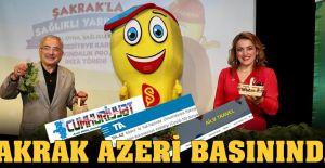 'Şakrak'la sağlıklı yarınlara' kampanyası Azerbaycan basınında