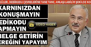 """Hilmi Güler, dedikodu çevrelerine tane tane ve Türkçe konuştu: """"Karnınızdan konuşmayın, dedikodu yapmayın, belge getirin gereğini yapayım"""""""